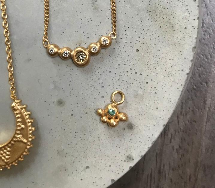22K gold plated Diamond necklace
