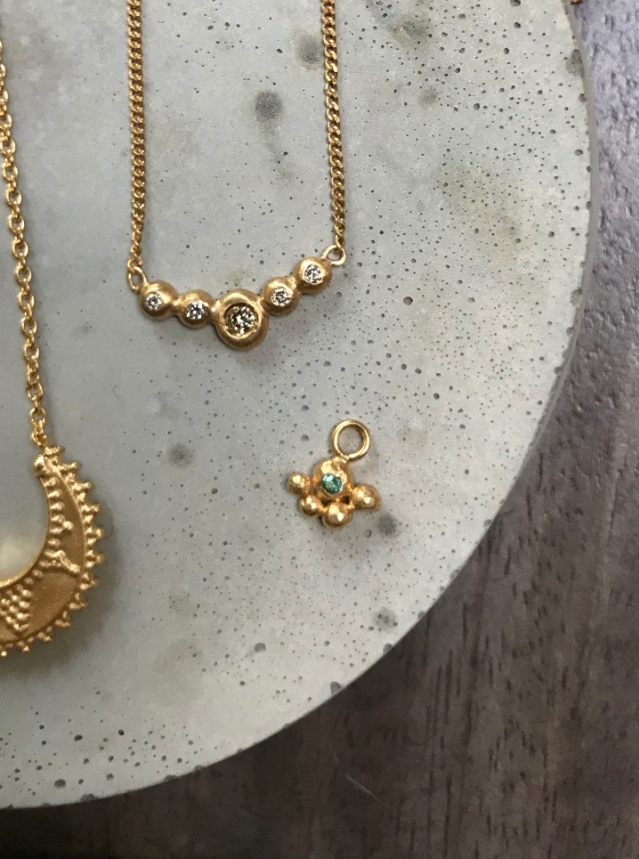 22K gold plated Diamond necklace
