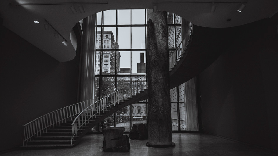 Spiral staircase at the Art Institute