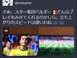 予選「ベルギーVSチュニジア」/IQ127の絶対美少女ミッキーのサッカーW杯観戦記⑫