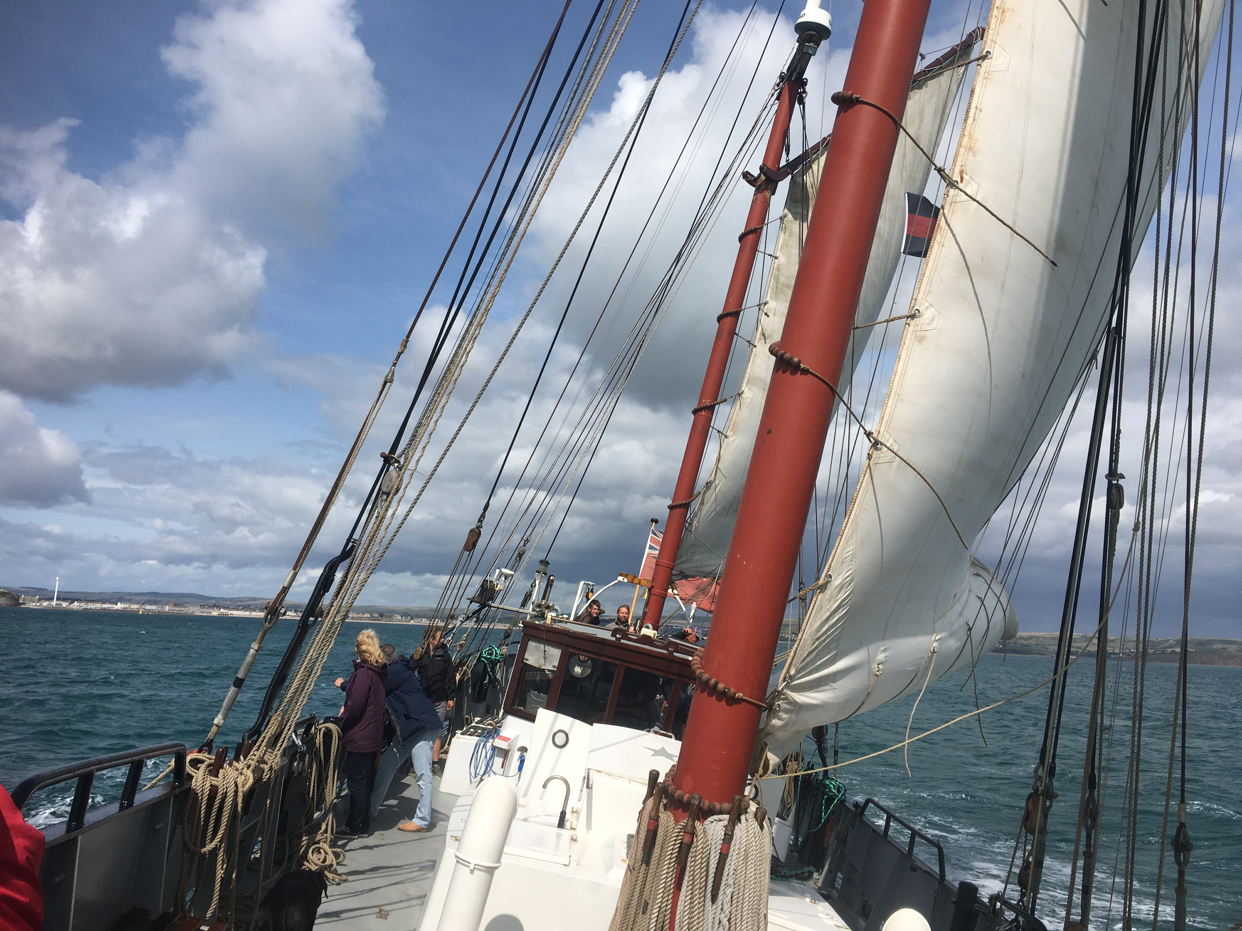 Moonfleet Sailing in Dorset at sea