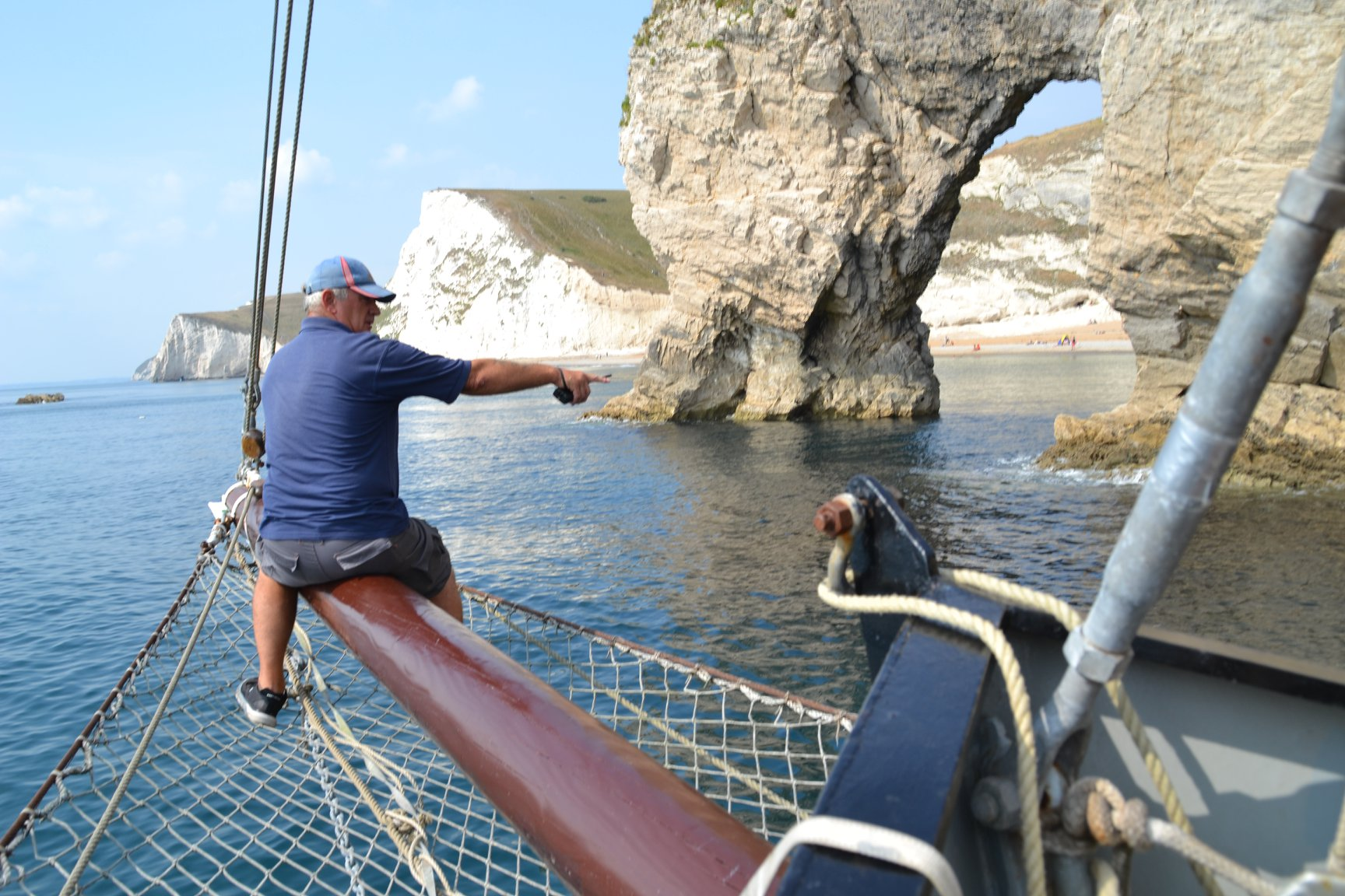 Moonfleet Sailing at Durdle Door