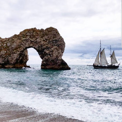 Moonfleet Sailing at Durdle Door by Lost