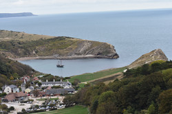 Moonfleet Sailing in Lulworth Cove taken