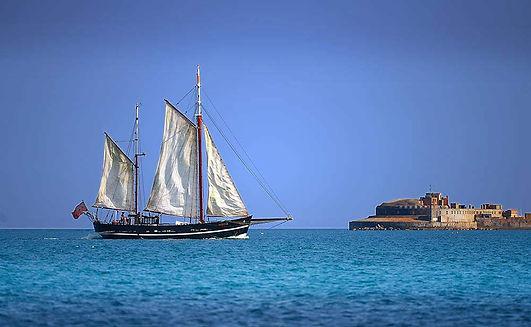 Moonfleet Sailing setting sail by Steve Belasco Weymo