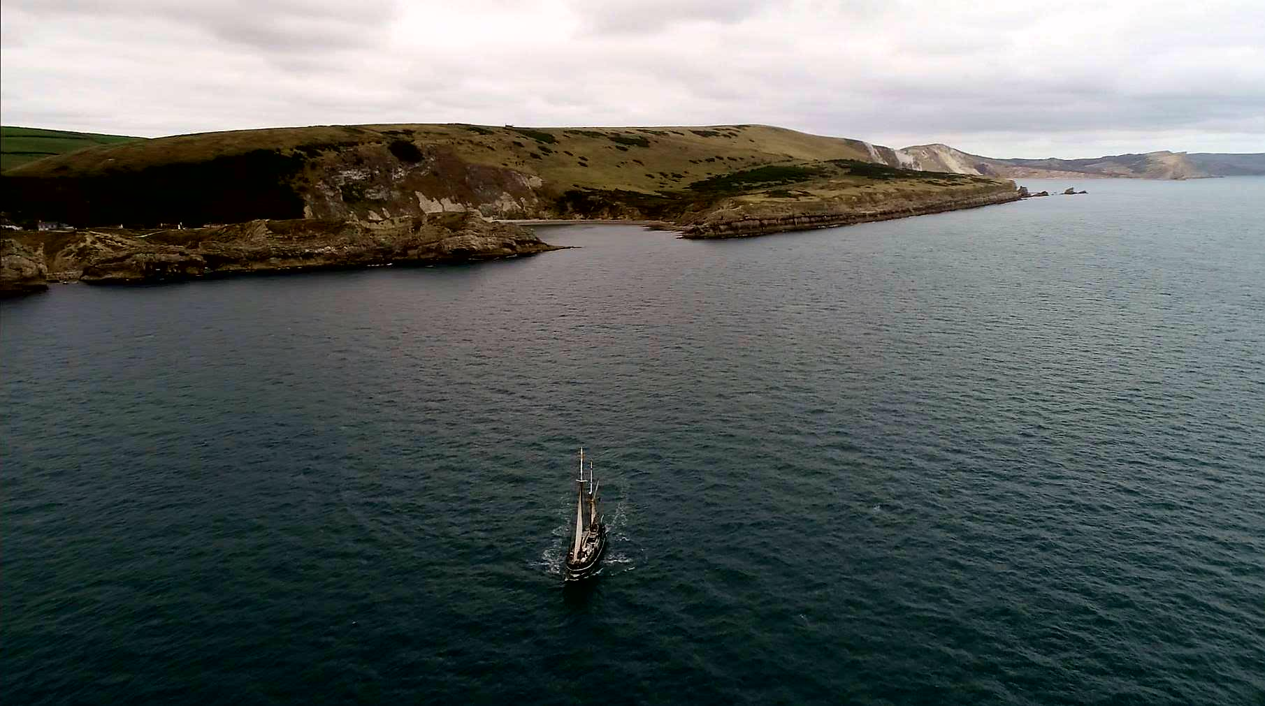 Moonfleet Sailing at Lulworth Cove taken