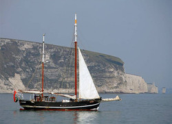 Moonfleet Sailing at Old Harry taken by