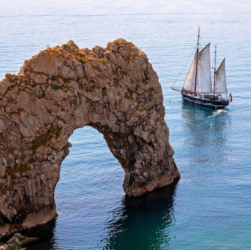 Moonfleet Sailing at Durdle Door taken b