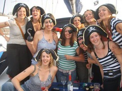 Moofleet Sailing Henparty on board