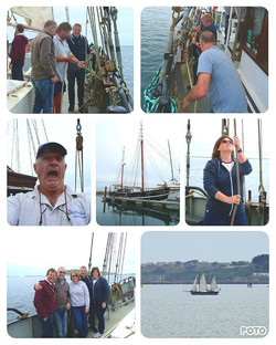 Moonfleet Sailing a Private Charter take