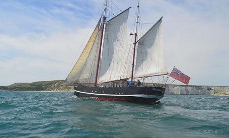 Moonfleet Adventure Sailing, Classic, Adventure, Tallship Sailing, Tallship Experience, Classic Sailing, Gaff Rigged