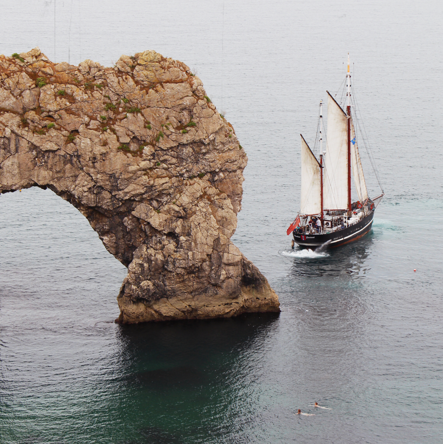 Moonfleet Sailing in Durdle Door taken b