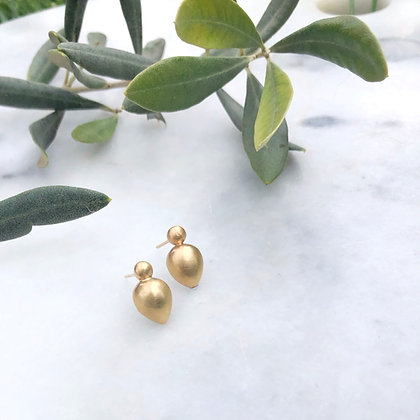'Bud'9ct Yellow Gold Stud Earrings