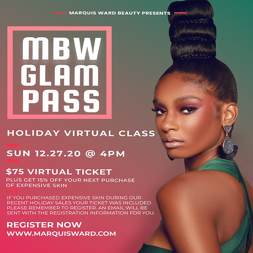 MWM Glam Pass Holiday Virtual Masterclass Registration