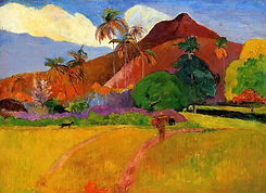 Mountains-in-Tahiti-by-Paul-Gauguin-oil-Painting-Canvas-High-quality-hand-painted-Art-Repr