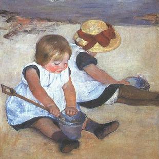 Cassatt_Mary_Children_on_the_Beach_1884.