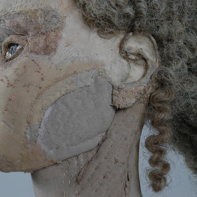 portrait de dame détail