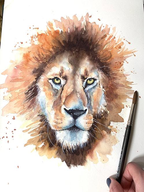 Lion Watercolour Tutorial