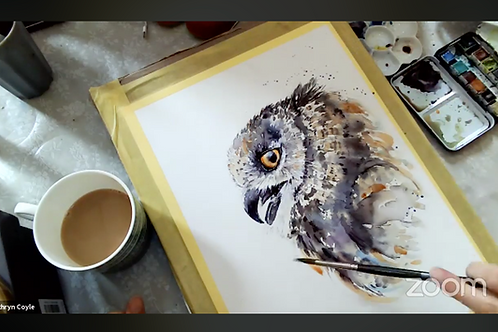 Owl Watercolour Tutorial
