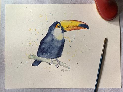 Original Watercolour -Toucan