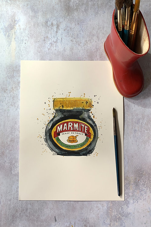 Original Watercolour - Marmite