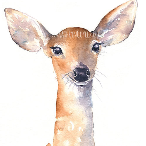 Deer - Watercolour Print from watercolour painting