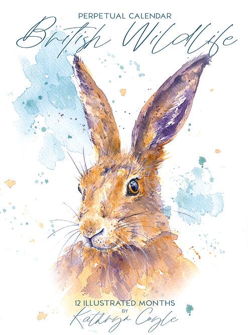 Illustrated Wildlife Calendar -Perpetual