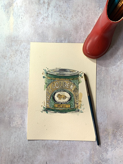 Original Watercolour - Golden Syrup