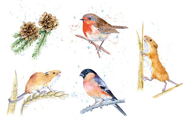 Winter Wildlife for Craft Kits