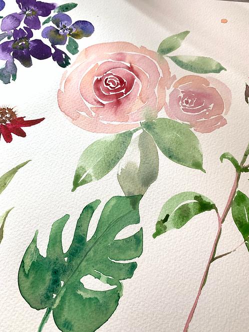 Leaves & Flowers Watercolour Tutorial