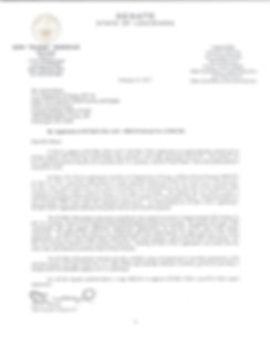 Letter of Support for the application to export LNG to non-Free Trade Agreement countries dated February 25, 2015 from Louisiana State Senator Dan Morrish, District 24 in support of the LNG Export Terminal at Monkey Island, Cameron Parish.