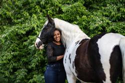Summer Evening Heart Horse Portrait Photoshoot   Victoria Siebe Photography + Film