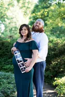 Garden Maternity Couple Shoot Cincinnati