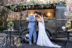Intimate Spring Wedding Mobile Bar Cincinnati Ohio