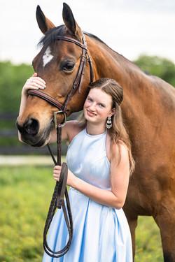 Summer Evening Equine Equestrian Portrait Session Lebanon Ohio