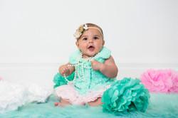 Indoor Baby Milestone Shoot Cincinnati