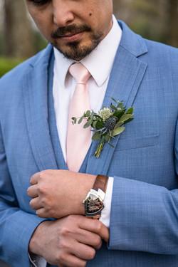 Spring Wedding Groom Detail Portrait Cincinnati Ohio