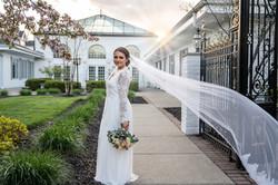Dreamy Spring Wedding Bridal Portrait