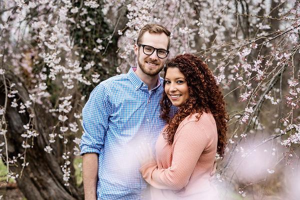 Spring Couples Portrait Session Cherry Blossoms Ault Park Cincinnati