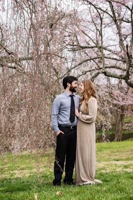 Spring Couples Portrait Cherry Blossoms