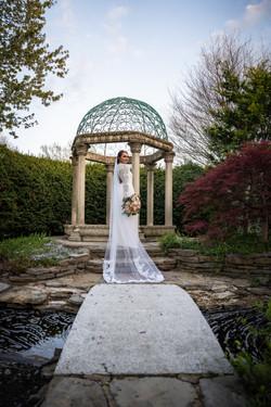 Spring Wedding Garden Bridal Portrait Cincinnati Ohio