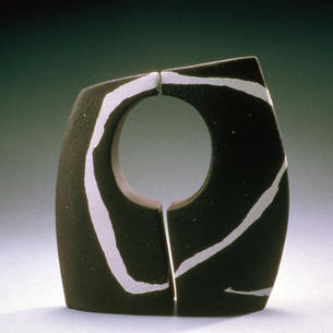 Black and White No.2 - ceramic sculpture