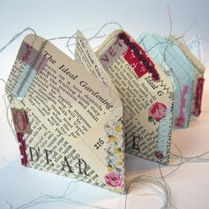 Envelope book - paper, collage and stitch