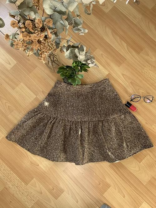 Jupe courte en tweed