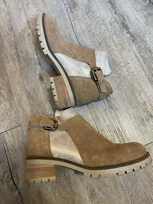 Boots beige/doré