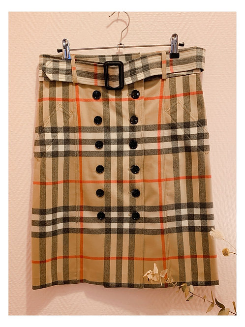 Jupe Burberry double boutonnage