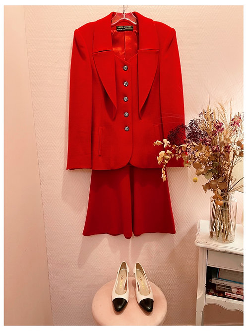 Tailleur rouge Janine Georges