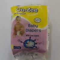 CO- ZEE BABY DIAPERS XL 10S