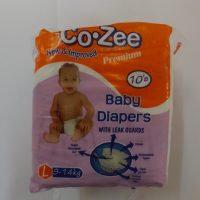 CO- ZEE BABY DIAPERS L 10S