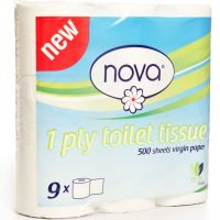 NOVA TOILET PAPER 1PLY 4s